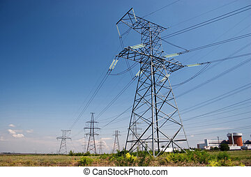 Electrical powerlines - Electrical power lines and nuclear...