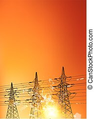 Electrical pylons.