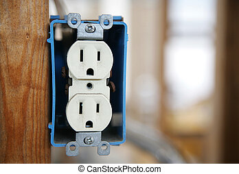 Electrical Receptacle - A 120v duplex electrical receptactle...