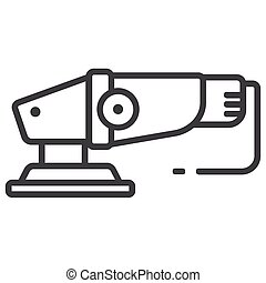 Electrical sander icon on white background