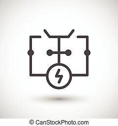 Electrical scheme line icon