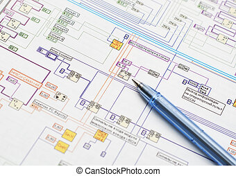 Electrical Scheme - Pen which lies on the model of the...