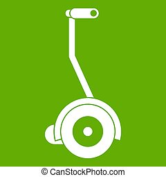 Electrical self balancing scooter icon green - Electrical...