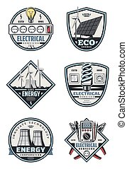 Electrical service badge of electricity supply