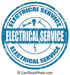 Electrical Service-stamp