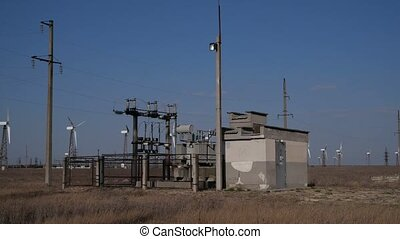 electrical shield and windmills - working electrical shield...
