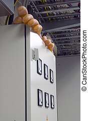 Electrical shield with gloves