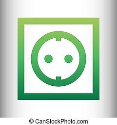 Electrical socket sign
