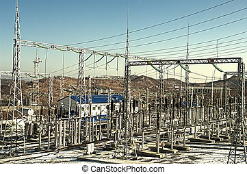 Electrical Sub-station - electrical transformers sub-station...