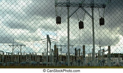 electrical substation, timelapse
