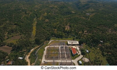 Electrical substation,power station.aerial view - Aerial...