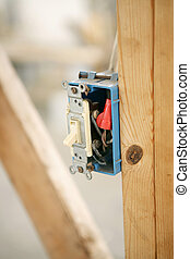Electrical Switch Closeup - Closeup of an electrical switch...