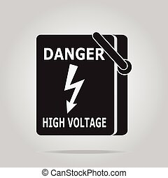Electrical switch the power voltage symbol