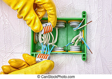 Electrical terminal block with push lever. - Electrical ...