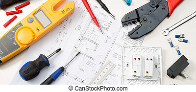 Electrical tool selection - Web banner format shot of ...