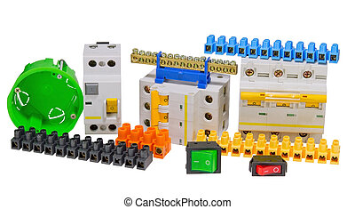 Electrical tools and component kit to use in electrical installa