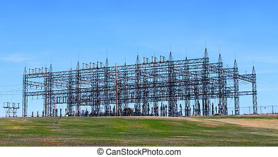 Electrical tower - Electrical power station from Mactaquac ...