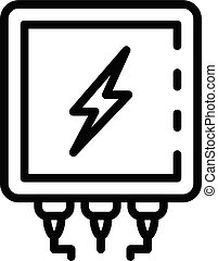 Electrical transformer icon, outline style