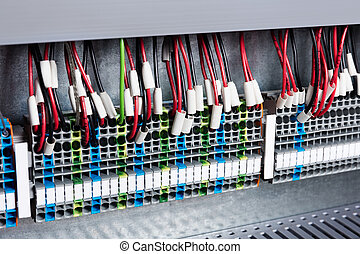 wires to the control panel