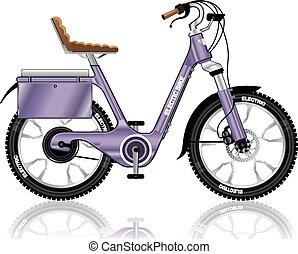 ElectricBicycleVectorDetailed.eps - Electric E-bike bicycle...