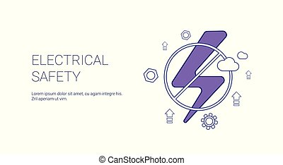 Electricial Safety Concept Template Web Banner With Copy Space