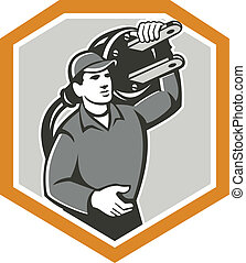 Electrician Carry Electric Plug Retro