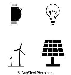 electrician icon set