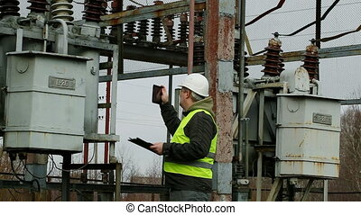Electrician  in the electric substation episode 4