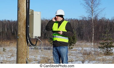 Electrician inspect electric lines episode 2