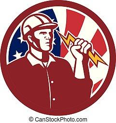 electrician-lightning-bolt CIRC GR USA-FLAG
