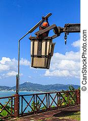 Electrician Man changing lamp