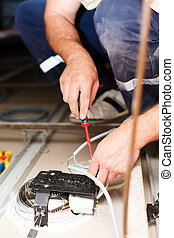 Electrician Man Working