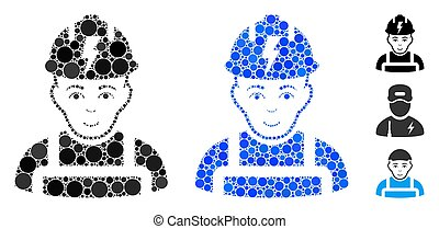 Electrician Mosaic Icon of Spheric Items
