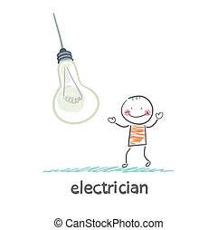 electrician near huge bulbs