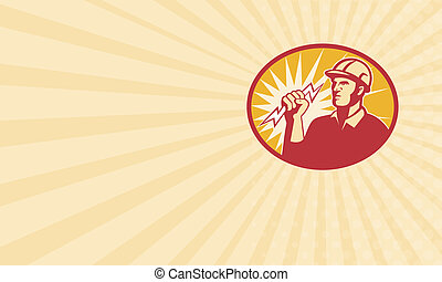 Electrician Power Line Worker Lightning Bolt