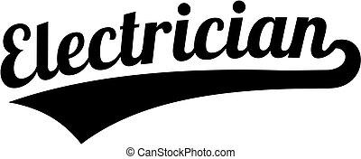 Electrician retro font