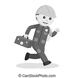 Electrician running illustration design
