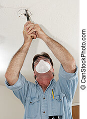 Electrician Sawing