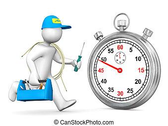 Electrician Stopwatch