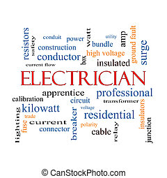 Electrician Word Cloud Concept