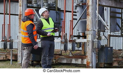 Electricians - Electrician in electrical substation episode...