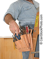 Electrician's Tools - A closeup of an electrician's tools in...