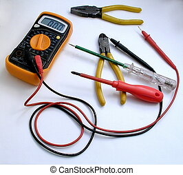 Electrician\'s Tools - Electrician\'s tools consisting of...