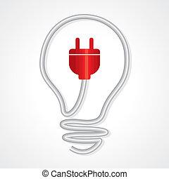 electricidad, concepto, iluminación