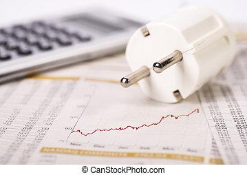 electricidad, costes, levantamiento