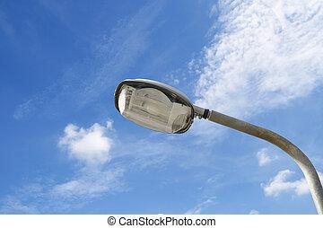 electricidad, poste, industria, lámpara