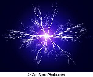 electricidad, puro, potencia