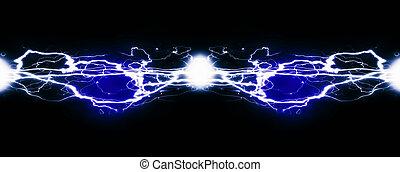 electricidad, symbolizing, energía, puro, potencia
