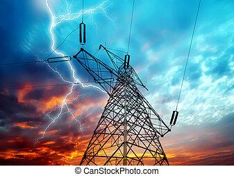 electricidad, torres
