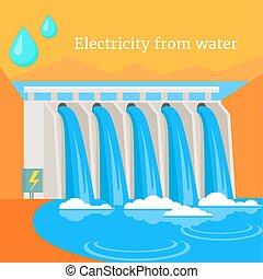 electricidade, água, desenho, apartamento